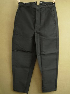 mid 20th c. black moleskin work trousers