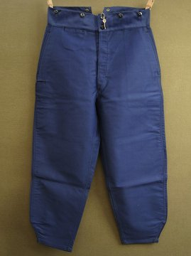 cir. 1940's blue moleskin work trousers