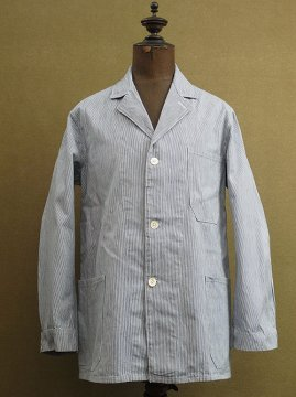 cir. mid 20th c. striped cotton work jacket
