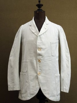 early 20th c. indigo striped white sack coat
