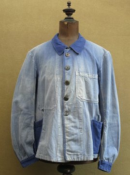 cir.1930's blue cotton twill work jacket