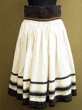early 20th c. easten Europe embroidered skirt