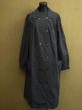cir. 1950-1970's dots printed double breasted work coat