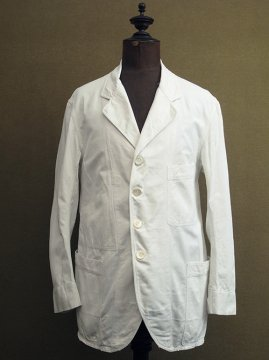 cir. 1930's white sack coat / jacket