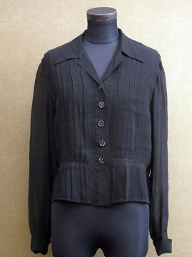 1930-1940's black blouse