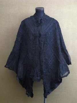 1900's black silk cape