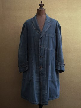 cir. 1930's indigo maquignon work coat