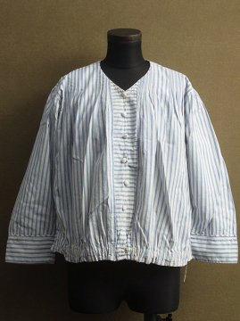 early 20th c. blue striped blouse