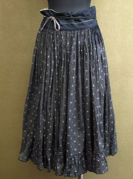 cir.1920's-1940's black printed skirt