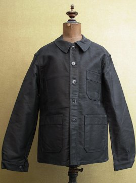 mid 20th c. dead stock black moleskin jacket