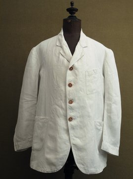 ~1930's white linen sack coat