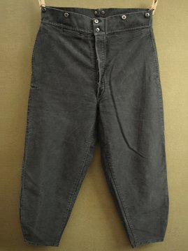cir.1940's black moleskin work trousers