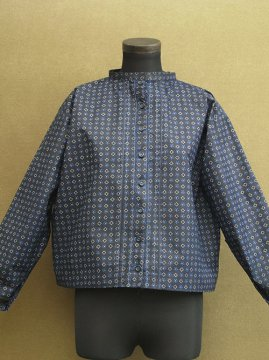 cir.mid 20th c. indigo printed blouse