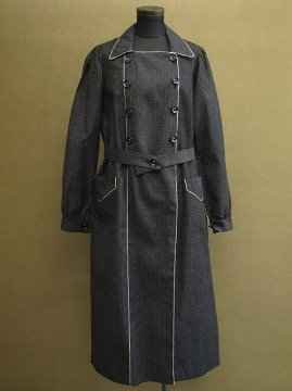 cir.1930's dead stock black printed work coat