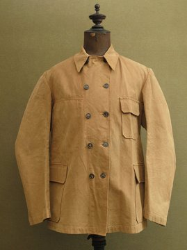 mid 20th c. brown cotton work jacket