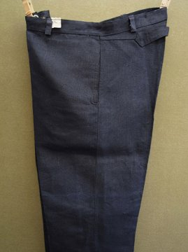 cir. 1930's linen work trousers dead stock