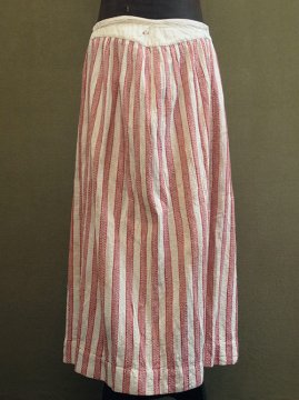 late 19th - early 20th c. red striped skirt