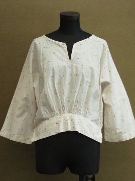 cir. 1920's red printed blouse