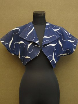 cir. 1940-1950's navy printed top
