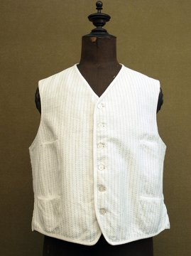 early 20th c. green striped white gilet