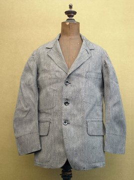 cir.1940's salt&pepper cotton jacket dead stock