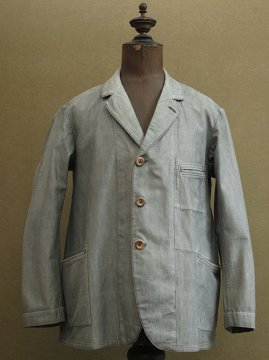 cir.1930's gray cotton sack coat