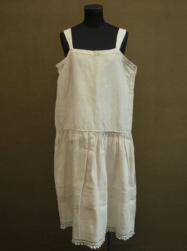 early 20th c. hemp × linen cami dress