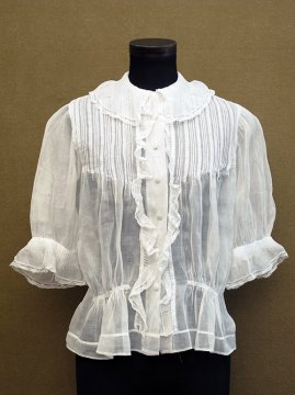 early 20th c. S/SL linen blouse