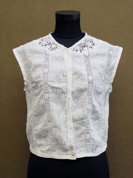 earl 20th c. white N/SL top