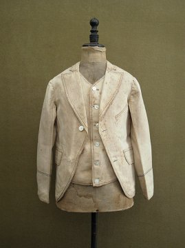 19th c. kids' set-up jacket and gilet