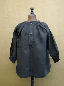 early 20th c. kids' indigo linen smock