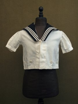 cir. early 20th c. Belle Jardiniere kid's S/SL sailor top
