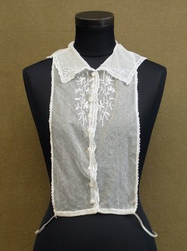 early 20th c. white lace dickey