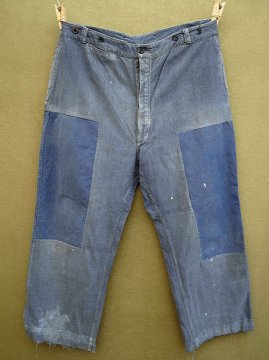 1940's blue cotton work trousers