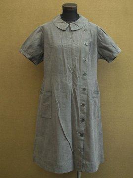 1930's-1940's gray dress S/SL