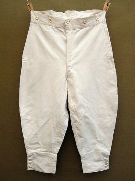 cir. early 20th c. white cotton jodphurs