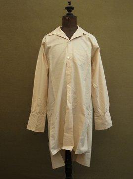 cir. 1930's beige cotton open collar shirt dead stock