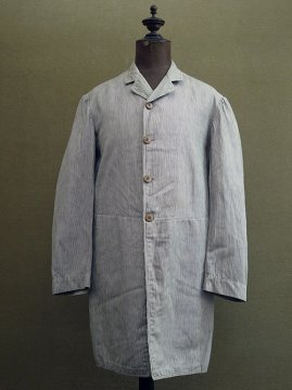 early 20th c. striped cotton summer jacket / frock coat