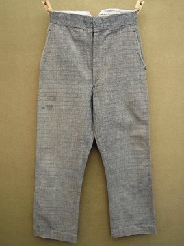 ~1930's gray cotton trousers