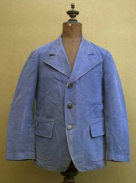 cir. 1930-1940's blue work jacket