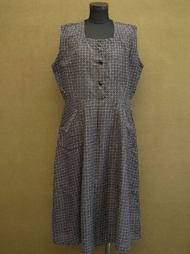cir.1930's printed work dress N/SL