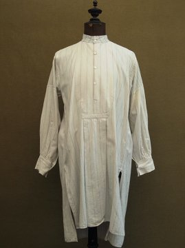 ~1930's striped cotton stand collar shirt