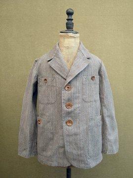 ~1930's brown kids jacket 4pockets