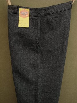 cir. 1940-1950's striped salt&pepper trousers dead stock