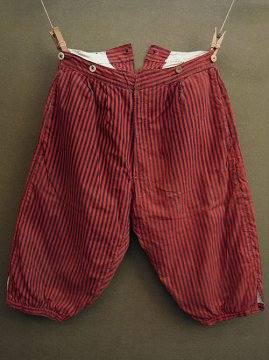~early 20th c. striped red shorts