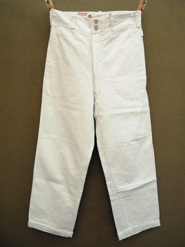 cir. 1930's white cotton trousers