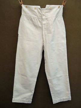 early 20th c. white cotton trousers
