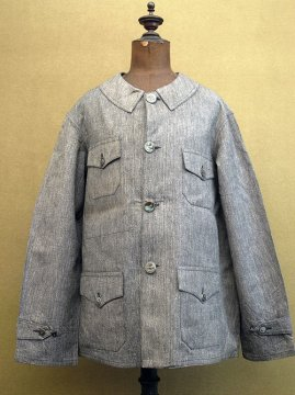 ~1940's salt&pepper cotton hunting jacket dead stock