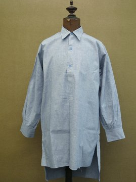 1930-1940's light blue cotton shirt dead stock
