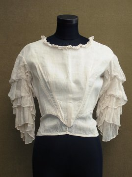 19th c. frilled sleeve bodice